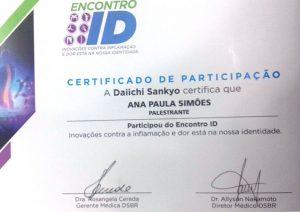 Certificado de Participação - Inovações Contra Dor e Inflamação
