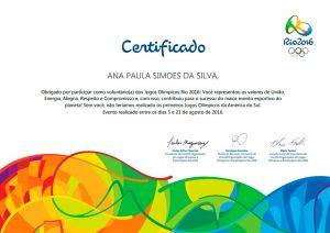 Voluntaria Jogos Olímpicos Rio 2016