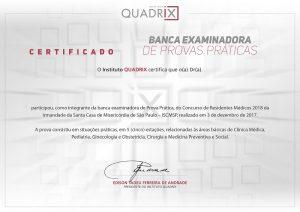Certificado Banca Examinadora de Prova Prática Quadrix
