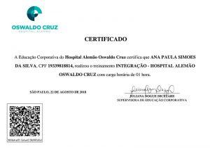 Treinamento Oswaldo Cruz
