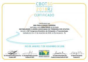 50º Congresso Brasileiro de Ortopedia e Traumatologia
