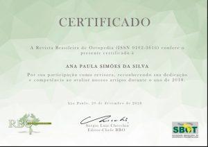 Revista Brasileira de Ortopedia
