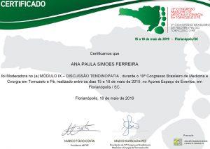 19º Congresso Brasileiro de Medicina e Cirurgia em Tornozelo e Pé