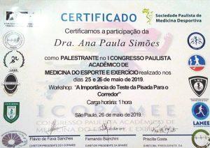 Primeiro Congresso Paulista Acadêmico  de Medicina do Exercício e do Esporte