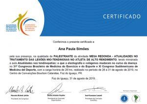 Palestrante Mesa Redonda: Atualidades no Tratamento de  Lesões Miotendinosas no Atleta de Alto Rendimento