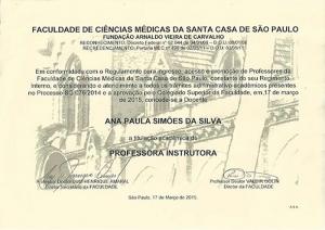 Professora Santa Casa de São Paulo