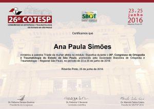 26° Congresso de Ortopedia e Traumatologia do Estado de São Paulo