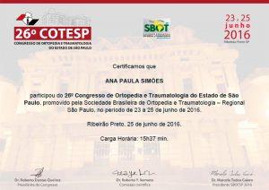Congresso de Ortopedia e Traumatologia do Estado de São Paulo