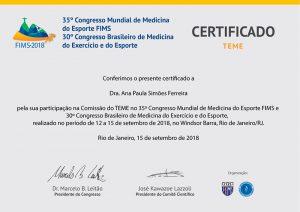 Congresso Mundial de Medicina do Exercício e dor esporte