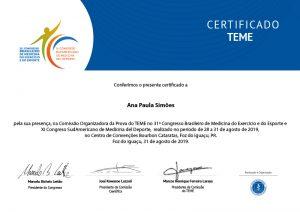 Certificado Teme