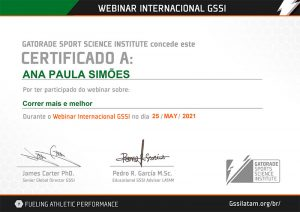 Certificado de Participação Webinar Internacional